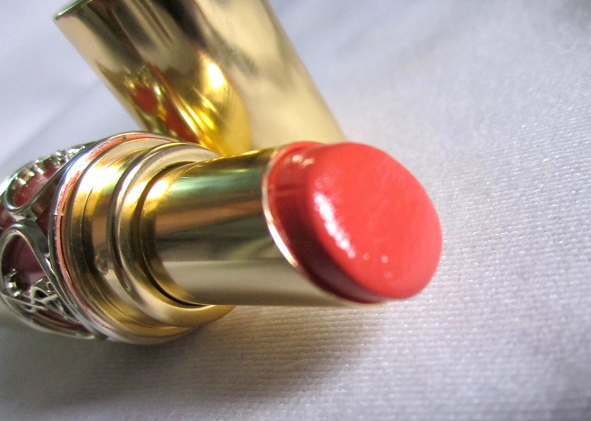 YSL Rouge Volupte Shine Lipstick Orange Impertinent (4)