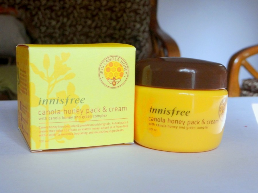 Innisfree Canola Honey Pack and Cream  (2)