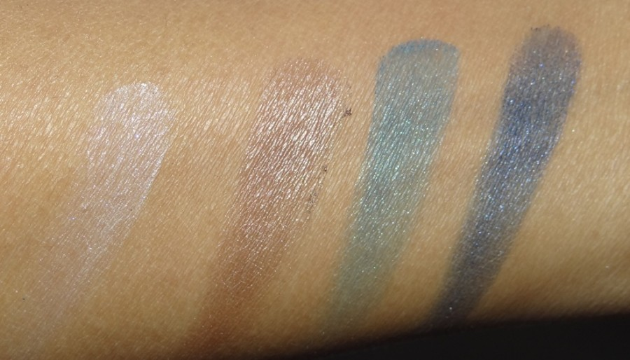 Avon True Color Eyeshadow Quad Glow Teal review swatches photos (4)