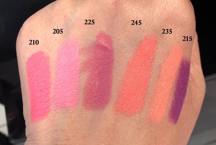 Swatches of 6 Revlon Matte Balm  India (1)