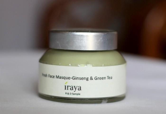 Iraya Ginseng & Green Tea Fresh Face Masque review (2)