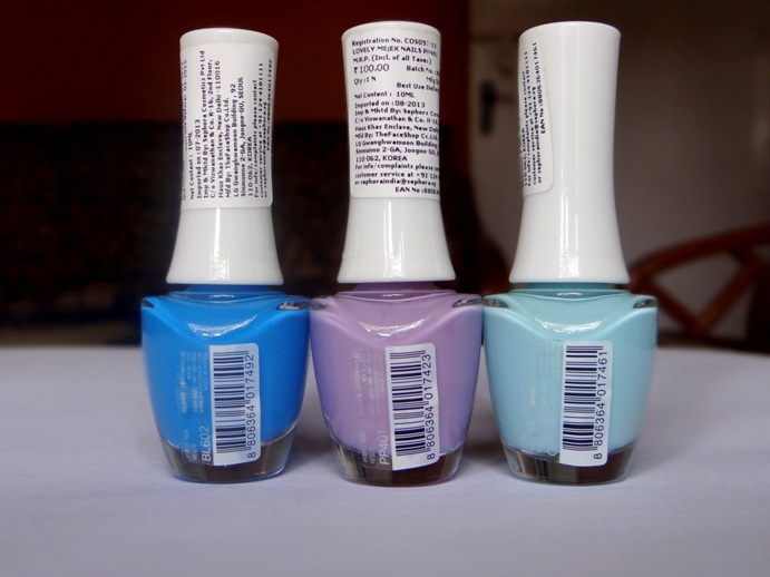 Tha Face Shop Nail Polish swatches photos (3)