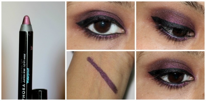 Sephora Crayon Jumbo Waterproof Liner Purple Review Swatches PHotos