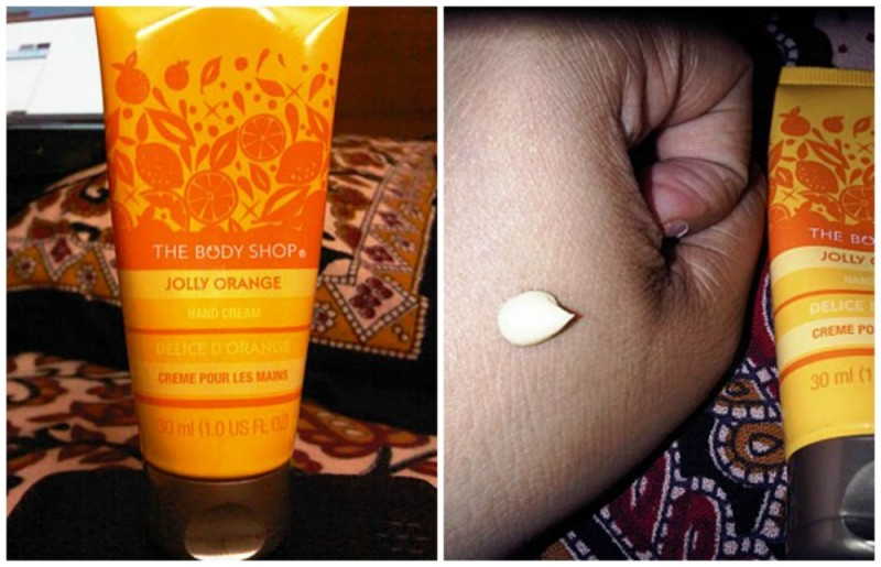 The Body Shop Jolly Orange Hand Cream Review