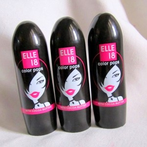 Elle 18 Color Pops Lipsticks Review Swatches Photos