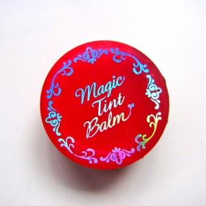 Etude House Magic Tint Balm , Cherry Red - Review and Swatches (2)