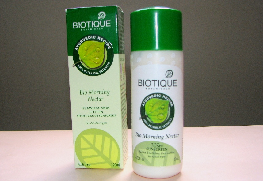 Biotique Bio Morning Nectar Ultra Soothing Face Lotion with SPF 30+  - Review (1)