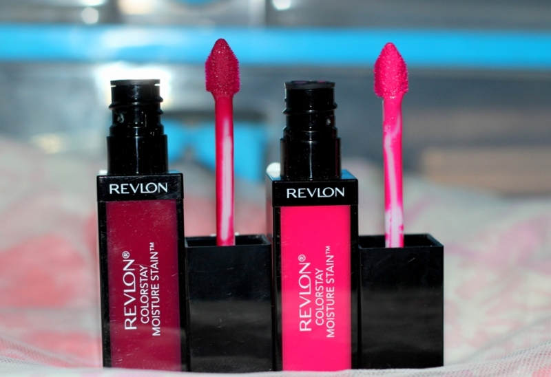 Revlon Colorstay Moisture Stain Review Swatches Photos - Parisian Passion , India Intrigue (1)