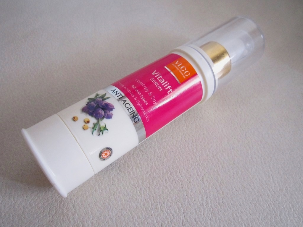 VLCC Anti Ageing VITALIFT Serum Comfrey & Soy Review Swatches Photos (2)