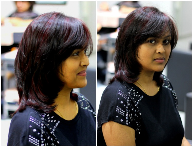 Red Highlights My Hair Makeover At Lakme Salonbe Beautilicious