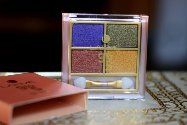 Lakme Tanjore Rush 9-to-5 Eye Color Quartet Review Swatches (2)