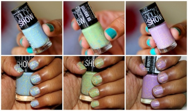Maybelline Go Graffiti Colorshow Blueberry Bombshell Green Graffiti Lucky Lavender review swatches photos