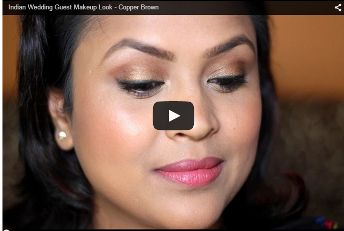 Indian Wedding Guest Makeup Look Copper Brown Eyesbe Beautilicious