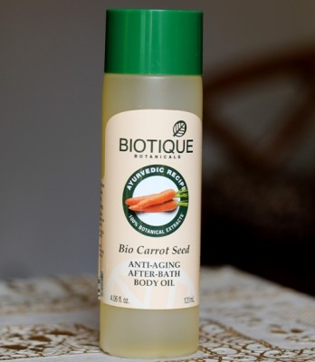 Biotique Bio Carrot Seed Anti Aging After Bath Body Oil
