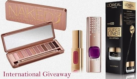 International Giveaway (YouTube)- Win Naked Palette & L'Oreal Cannes Makeup
