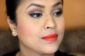 Matte Makeup & Orange Lips Ft L'Oreal Paris Infallible 24H Foundation