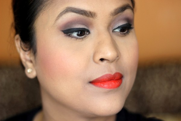 Matte Makeup & Orange Lips For Summers  (1)