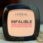 L'oreal Paris Infallible 24H Powder Foundation Warm Sand (245) Review Swatches Demo