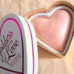 Makeup Revolution I Heart Makeup Goddess of Love Blushing Hearts Highlighter Review Swatches Photos