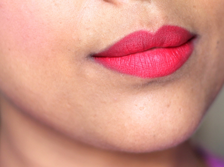 Lakme Absolute Lip Pout lip Tint Raving Red Review swatches photos