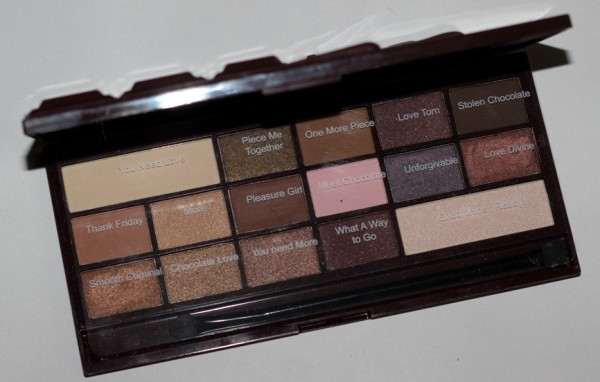 Makeup Revolution I Heart Chocolate Eye Shadow Palette Review Swatches Photos (3)
