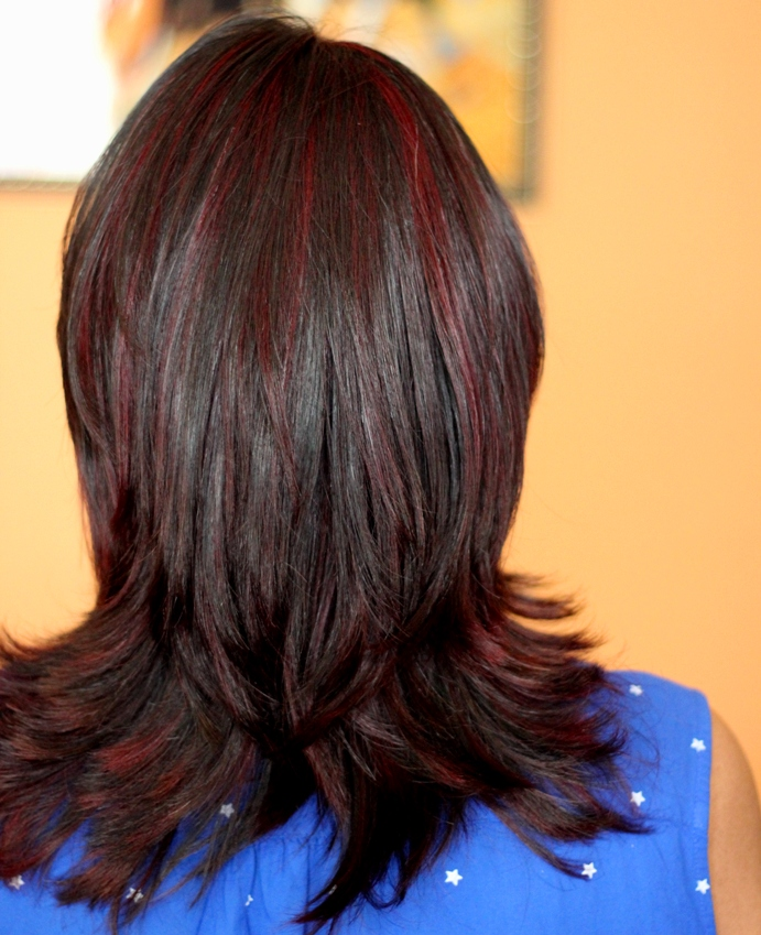 Burgundy Red Highlights Ft F Salon Gk 2 Review Experientialbe
