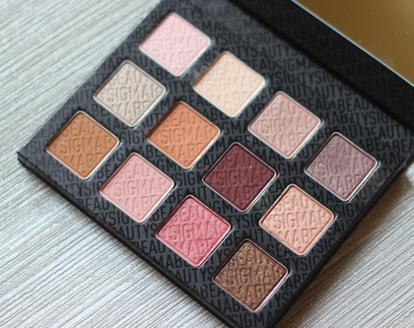 Sigma Warm Neutrals Eye Shadow Palette Review Swatches Photos