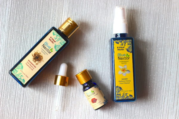 Blue Nectar Shubhr Face Cleanser & Briganantadi Hair Oil Review