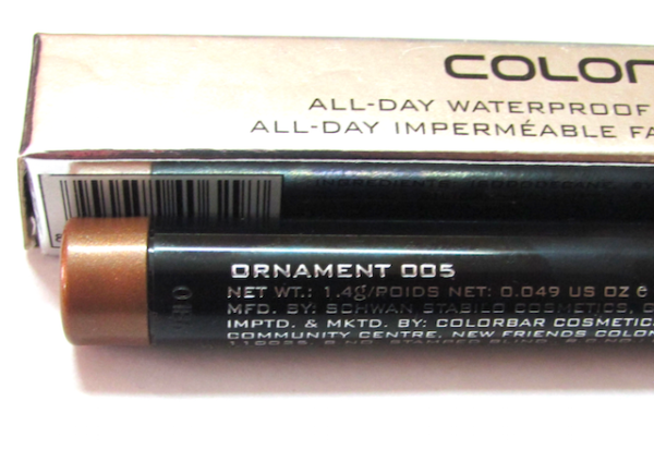 Colorbar Ornament (005) All Day Waterproof Eyeshadow Stick Review
