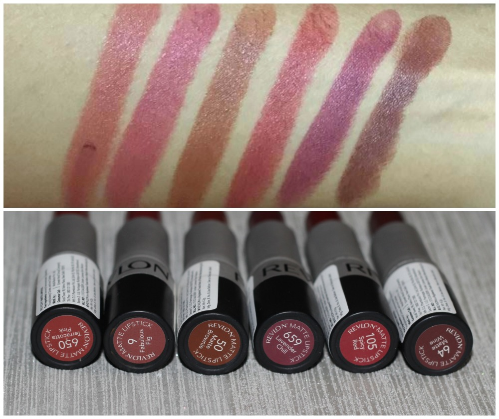Revlon Matte Lipsticks Terracotta Pink Fabulous Fig Zoya Cosmetics Lip Paint Pure Red Brownie Spicy