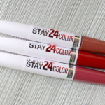 Maybelline Super Stay 24 Color – Wont Move Mauve 060, Keep It Red 035, Very Cranberry 100 Review Swatches Photos