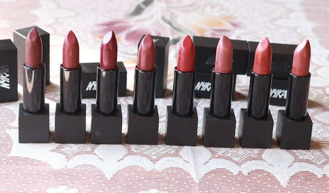 Nykaa So Matte Lipsticks Review Swatches Photos - Fall Winter Collection
