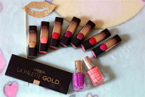 L'Oreal Paris Gold Obsession Collection – LA Palette Gold, Nail Enamels, Lipsticks