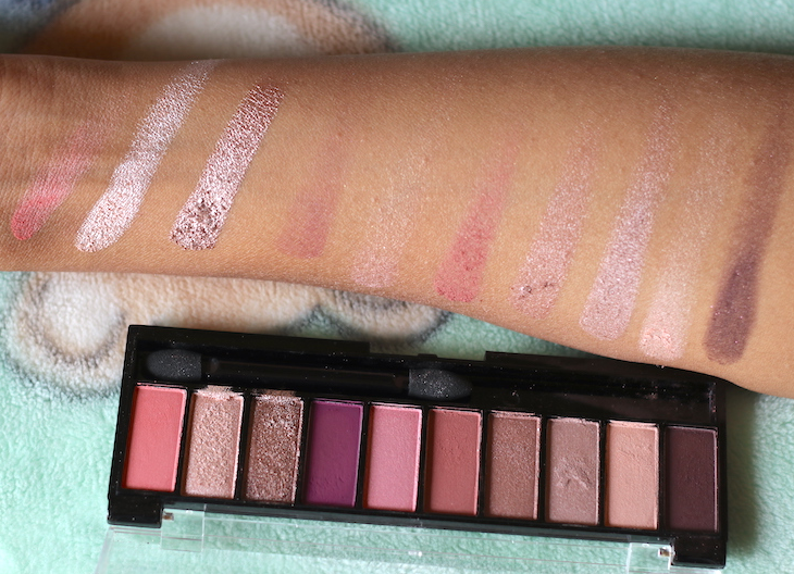 Faces Ultime Pro Eye Shadow Palette Rose Review Swatches Photos