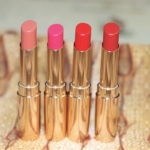 Lakme Soft Nude, Lush Rose, Ruby Velvet, Drenched Red Absolute Argan Oil Lip Color Review Swatches
