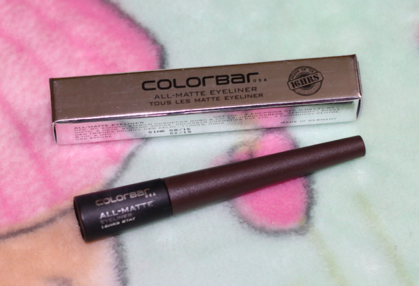 Colorbar Matte Brown All Matte Eyeliner Review Swatches Photos