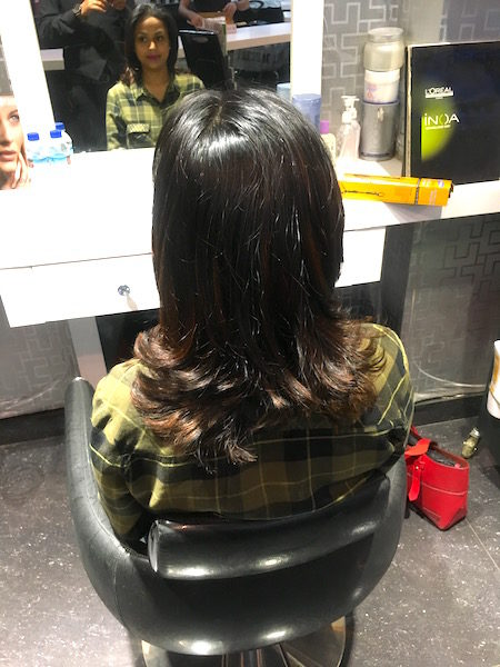 Review & Experience F Salon Rajouri Garden Delhi - Red Highlights