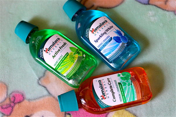 Himalaya Mouthwash Review - Sparkling White, Complete Care & Active Fresh