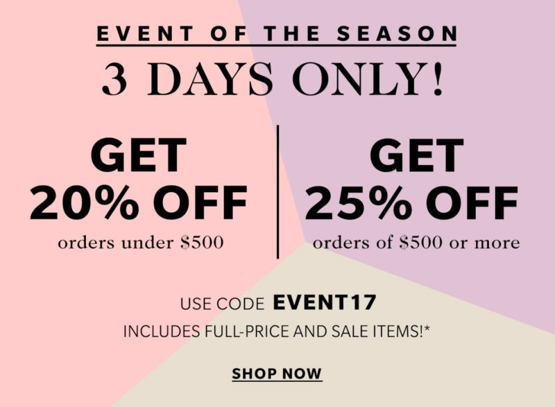 Sale Alert - Shopbop April Sale Details & Discount Code