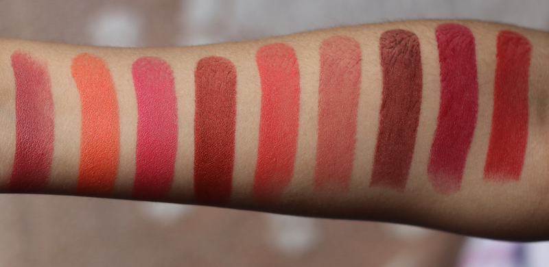 35e6cdd2b3 9 Lakme 9To5 Primer Matte Lipstick Swatches Review PhotosBe ...
