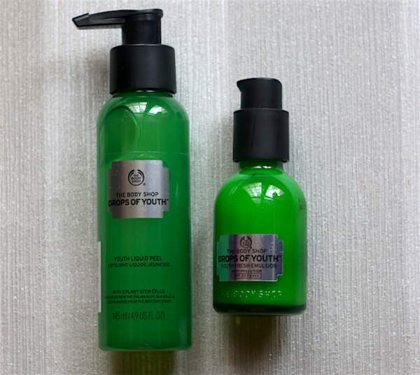 The Body Shop Drops of Youth Exfoliating Liquid Peel & Fresh Emulsion Review