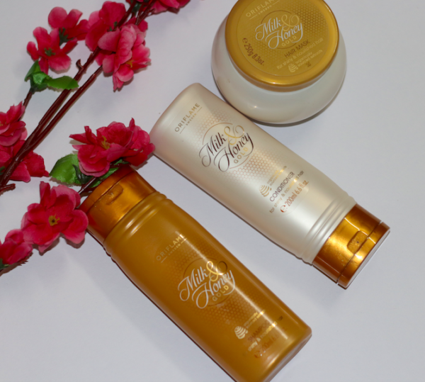 Oriflame Milk & Honey Gold Shampoo, Conditioner & Hair Mask Review