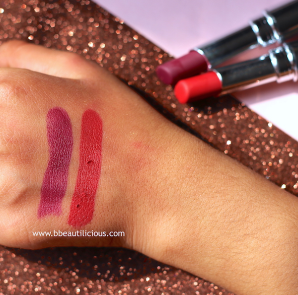Colorbar Kiss Proof Lipstick Review Swatches Photos - Be Ready, Plum Shot