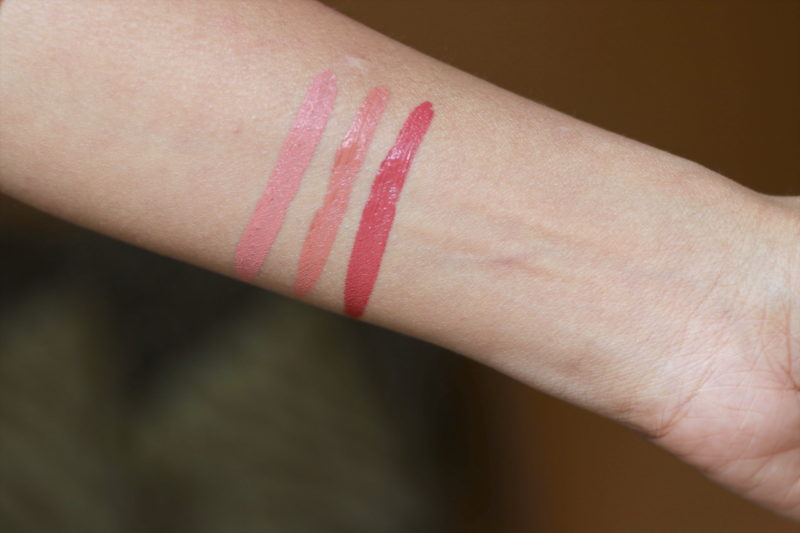 NYX Lip Lingerie Bedtime Flirt, Ruffle Trim, Exotic Review Swatches photos