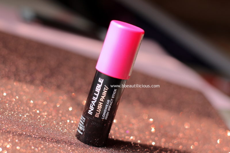 L'Oreal Infallible Paint Chubby Blush Fuchsia Fame Review Photos
