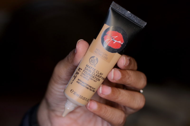 The Body Shop Matte Clay Skin Clarifying Foundation Review Price Photos nutmeg