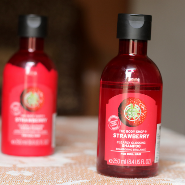 The Body Shop Strawberry Clearly Glossing Shampoo Conditioner Review photos price
