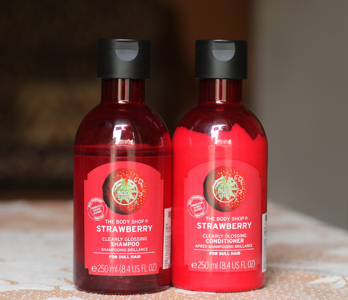 The Body Shop Strawberry Clearly Glossing Shampoo Conditioner Review