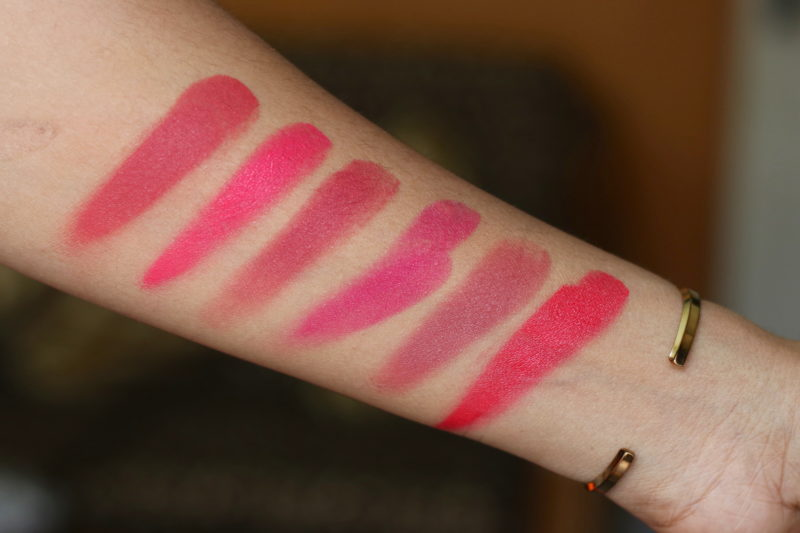 PAC 6 Lip Color Palette 01 Pink & 02 Nude Review Swatches Photos