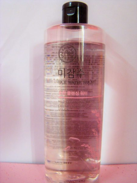 THE FACE SHOP RICE WATER BRIGHT MILD CLEANSING WATER- REVIEW PHOTOS PRICE